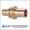 Патрубок - переходник (соединитель) для труб AQUAPEX d16 х d16 толщина стенки 2,0 мм (Испания)