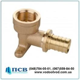 Колено настенное для арматуры (водорозетка длинная) AQUAPEX d20 - 1/2 F мм (Испания)
