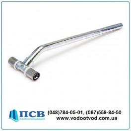 Тройник хромированный для подсоединения радиаторов d20 х d15 мм