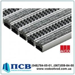 Решетка АСО Vario алюминиевая с щеточками и войлочным покрытием для пешеходного движения